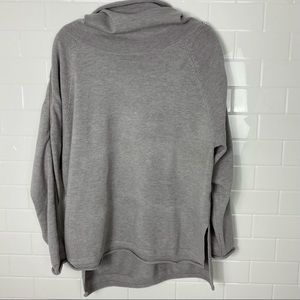 FRENCH CONNECTION Zip-Sleeve Cowl Neck Sweater